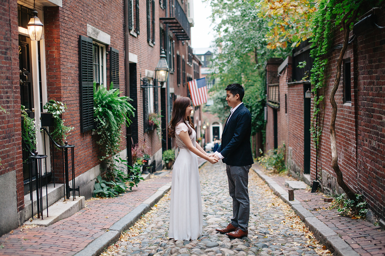 Engaged in Boston Beacon Hill