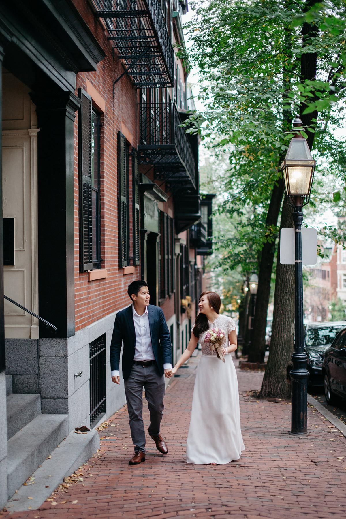 Beacon Hill engagement photography, Boston MA