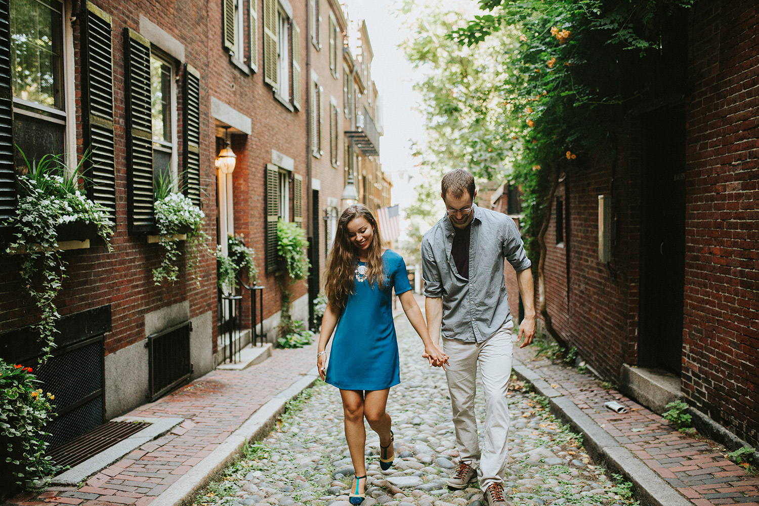 Beacon Hill Engagement Photos