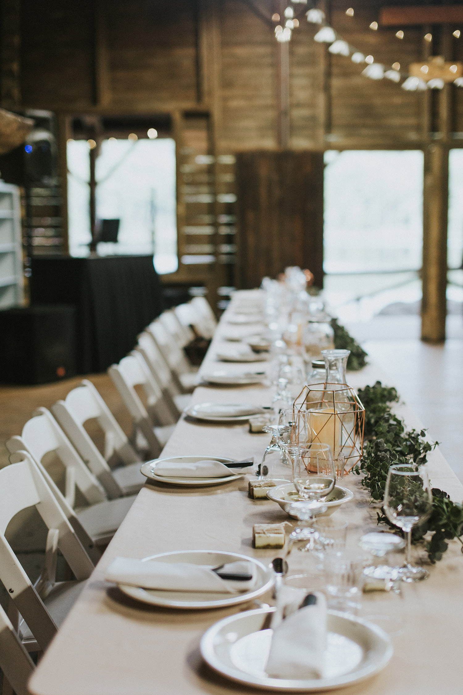 Massachusetts forest wedding | reception table