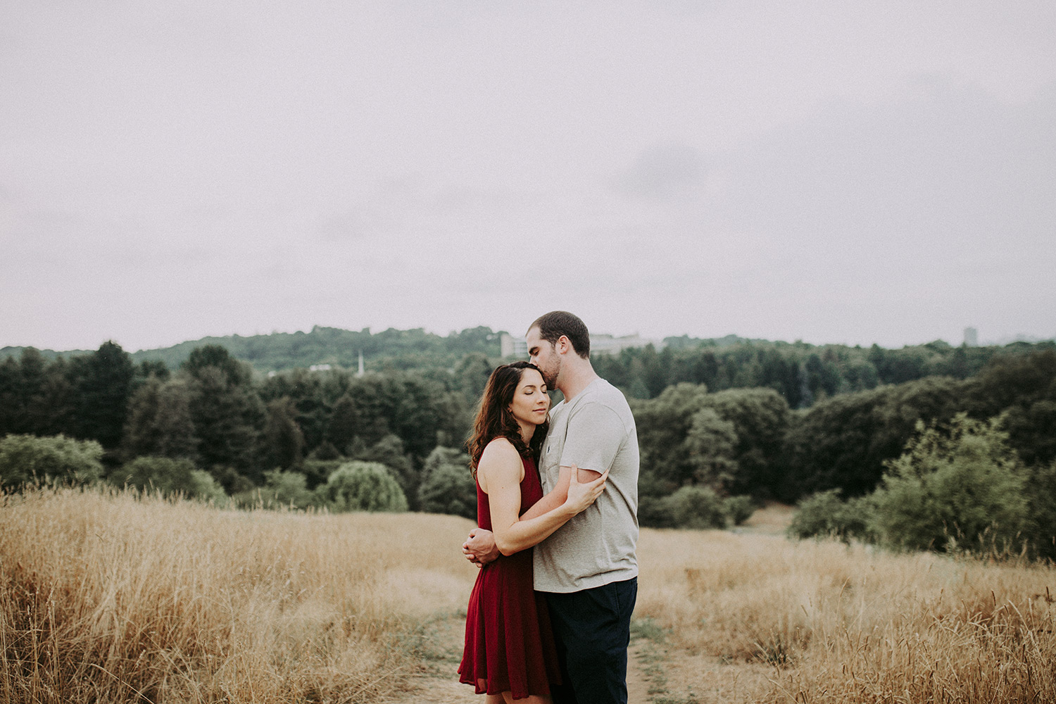 arnold arboretum engagement session