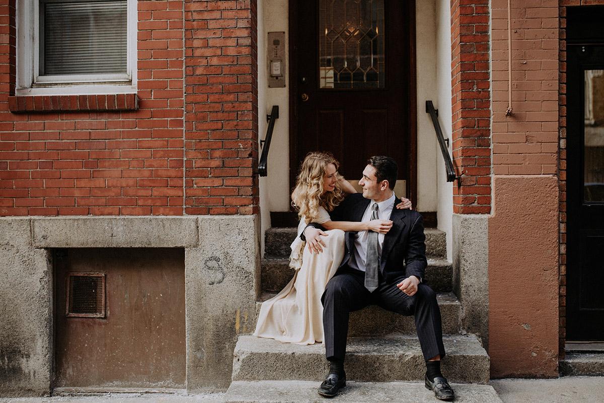 engagement photo in boston