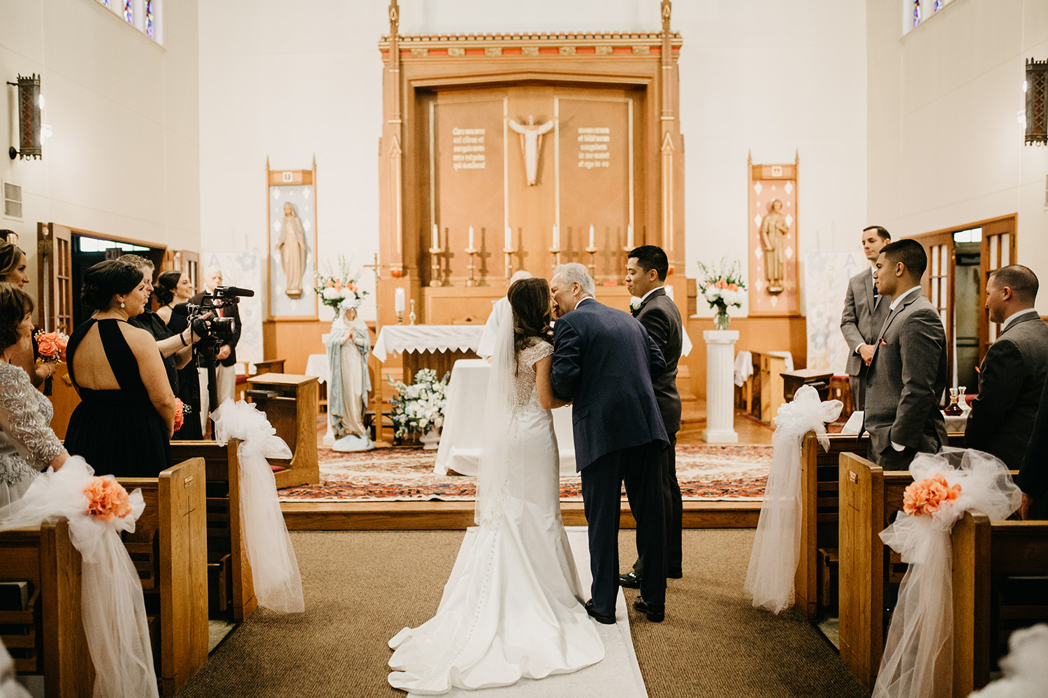 wedding ceremony at most blessed sacrament parish | greater boston area