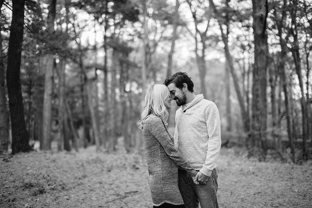 engagement photo black and white