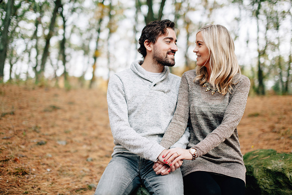 Couple engagement photo in Malden, MA