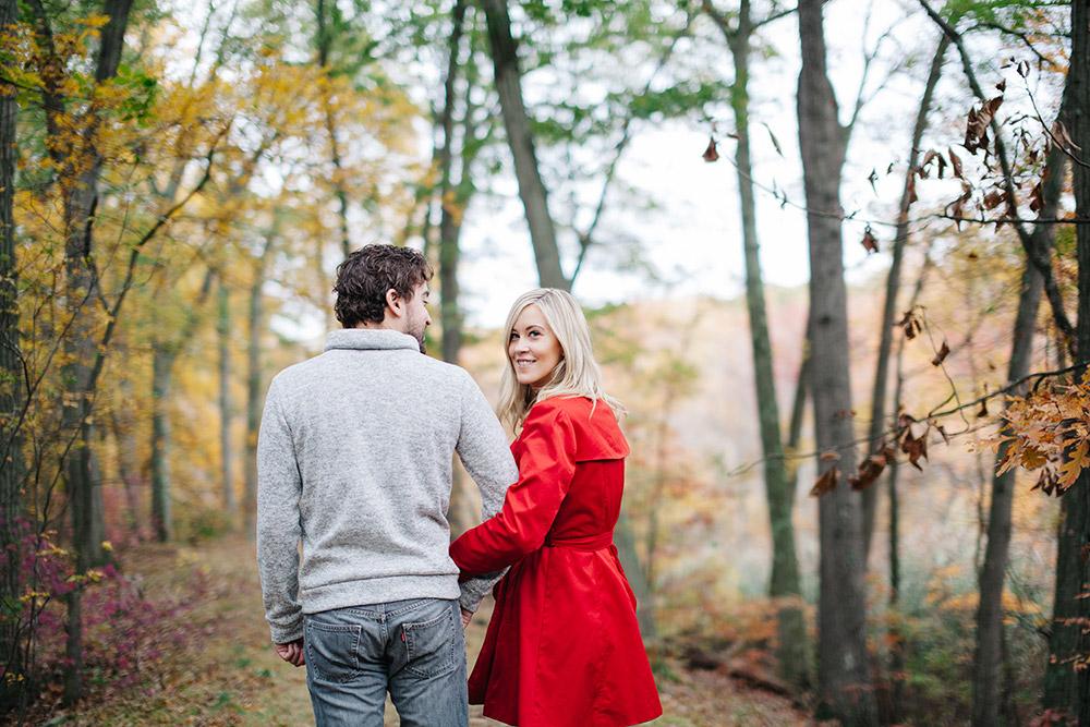 engagement session at Pine Banks Park