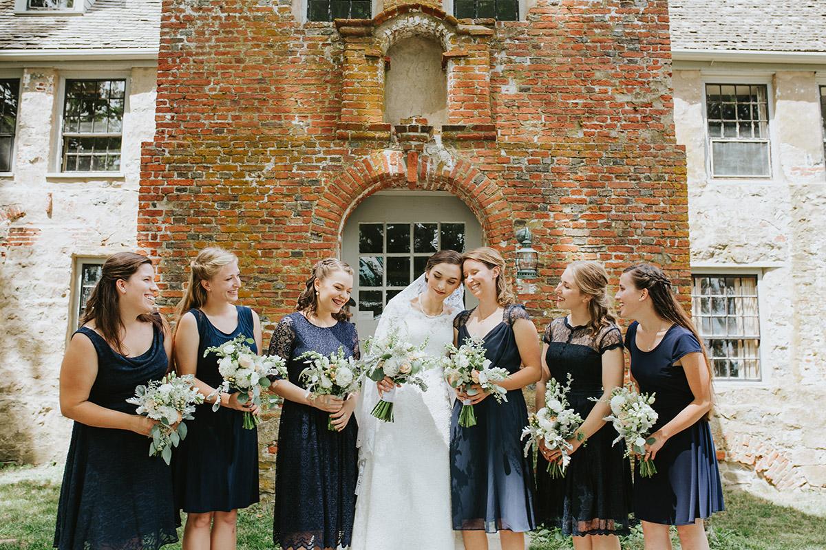 bride and bridesmaids | Newburyport documentary wedding