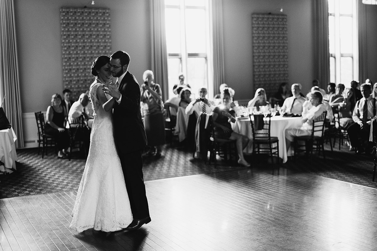 Steeple Hall at Mission Grill Oak | Newburyport documentary wedding photography