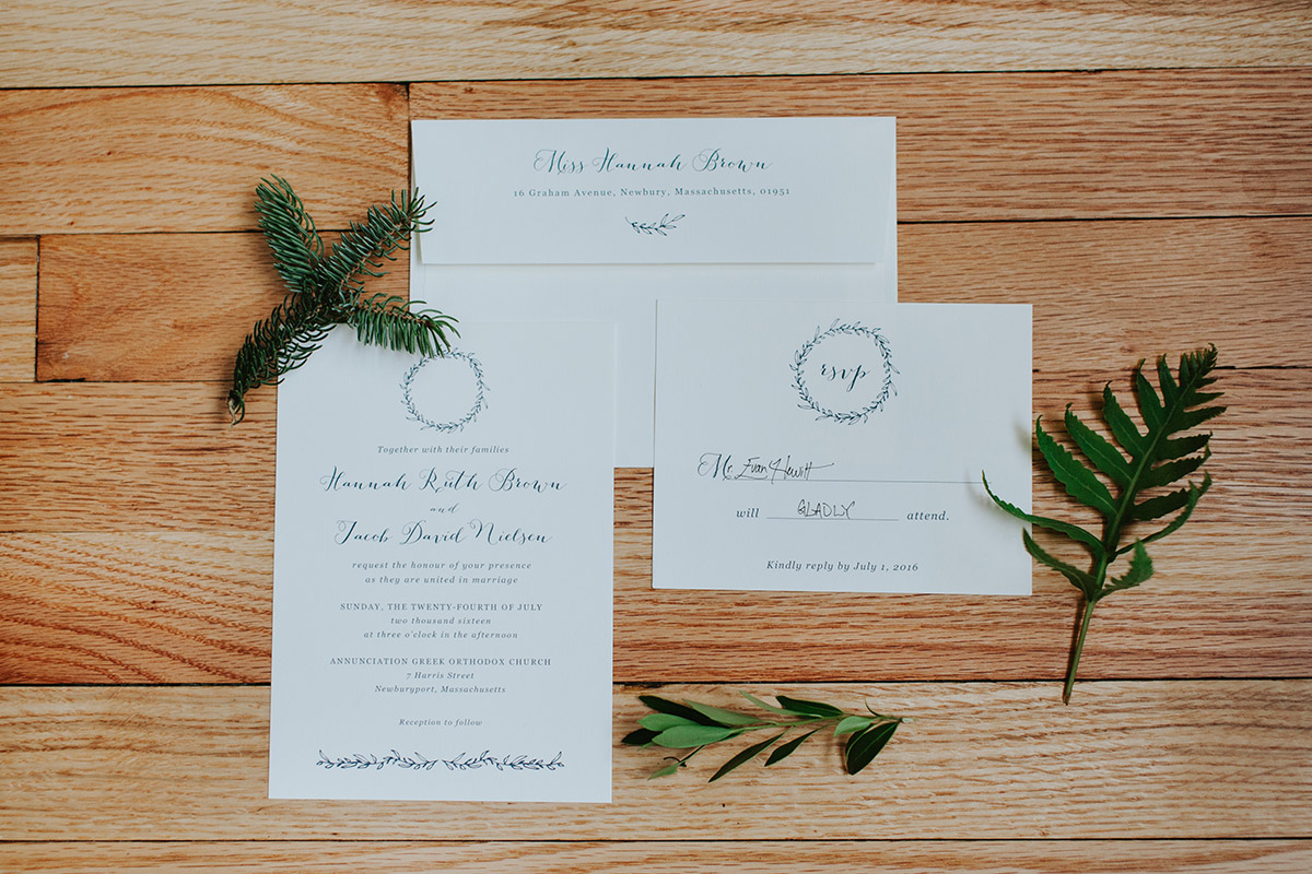 invitation | newburyport wedding