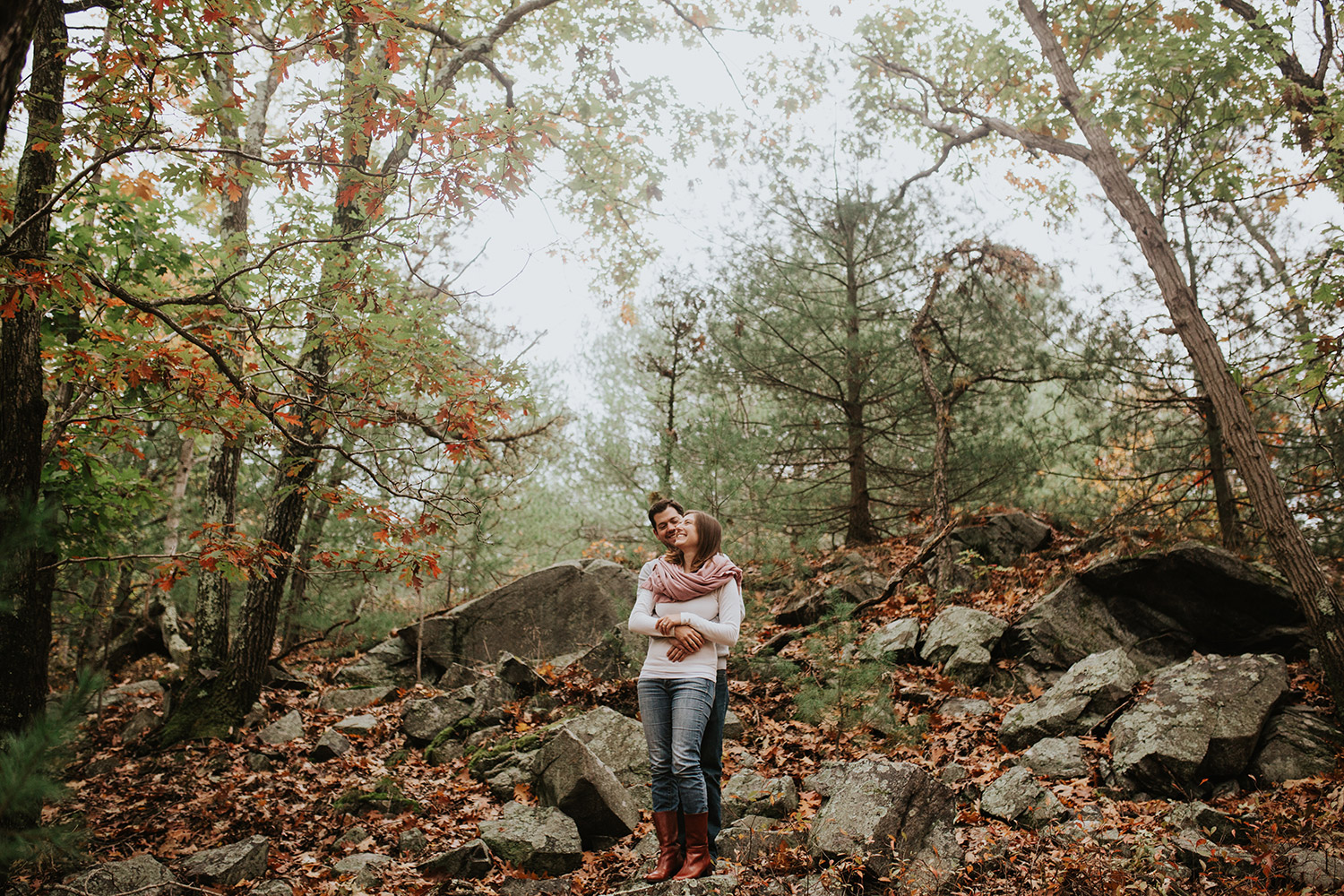 Boston documentary couple photography | Hiking at Blue Hills Reservation