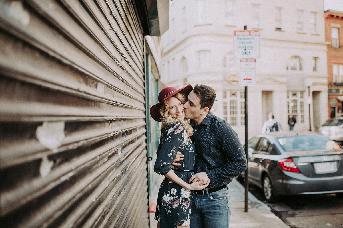 engagement photos in north end boston