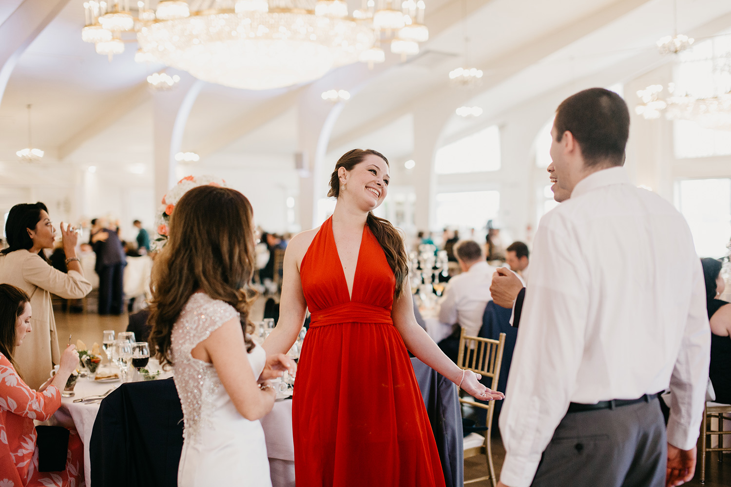 wedding reception at danversport yatch club | boston candid wedding photographer