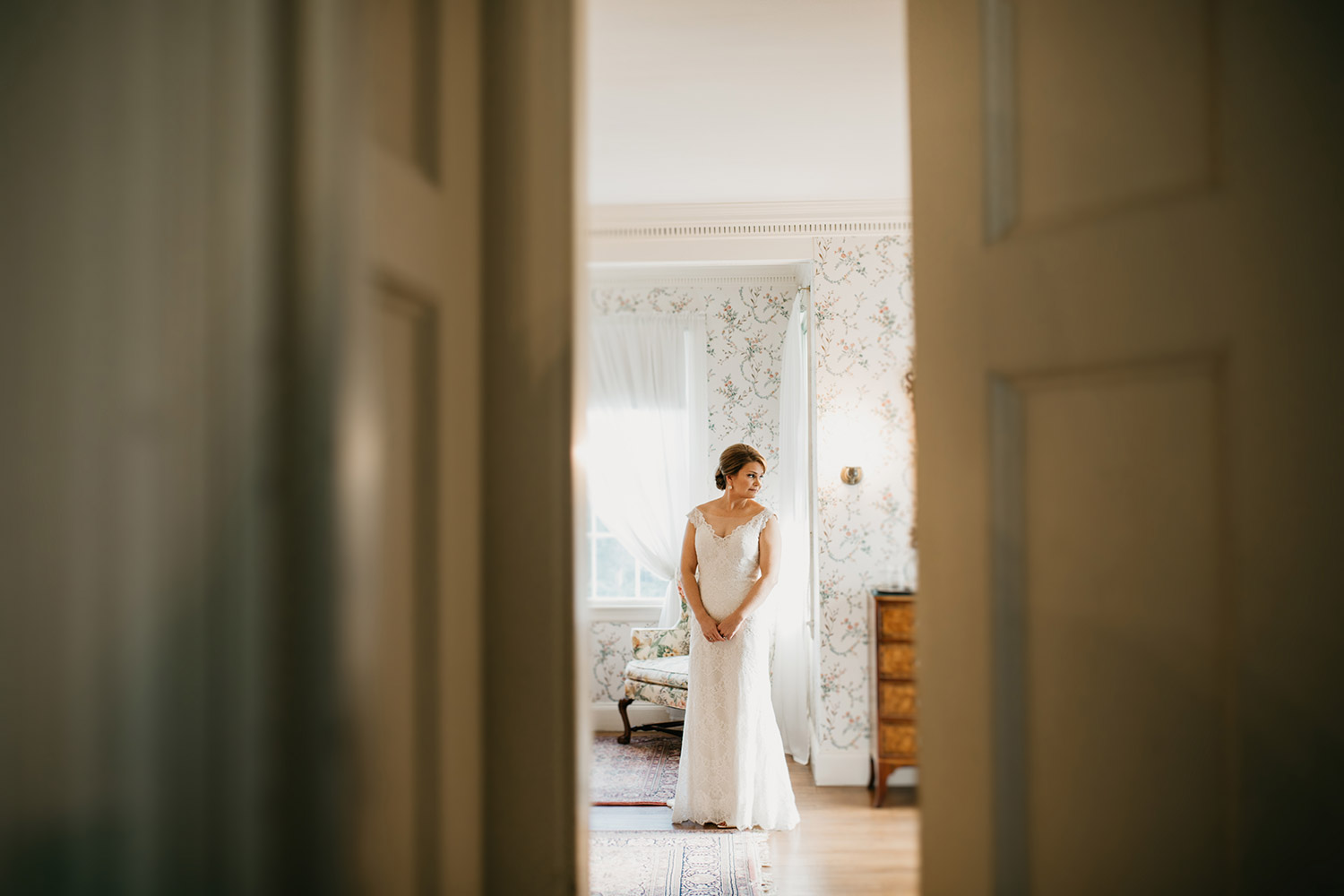 lyman estate wedding - bride