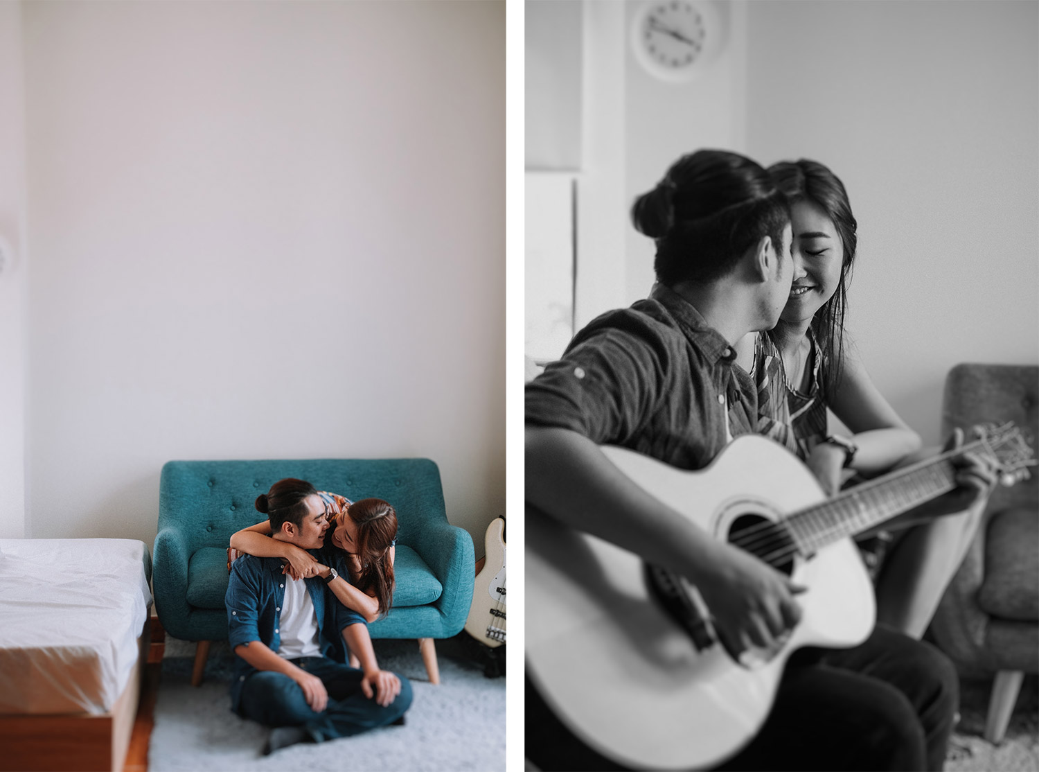 Guitar engagement photos | Boston