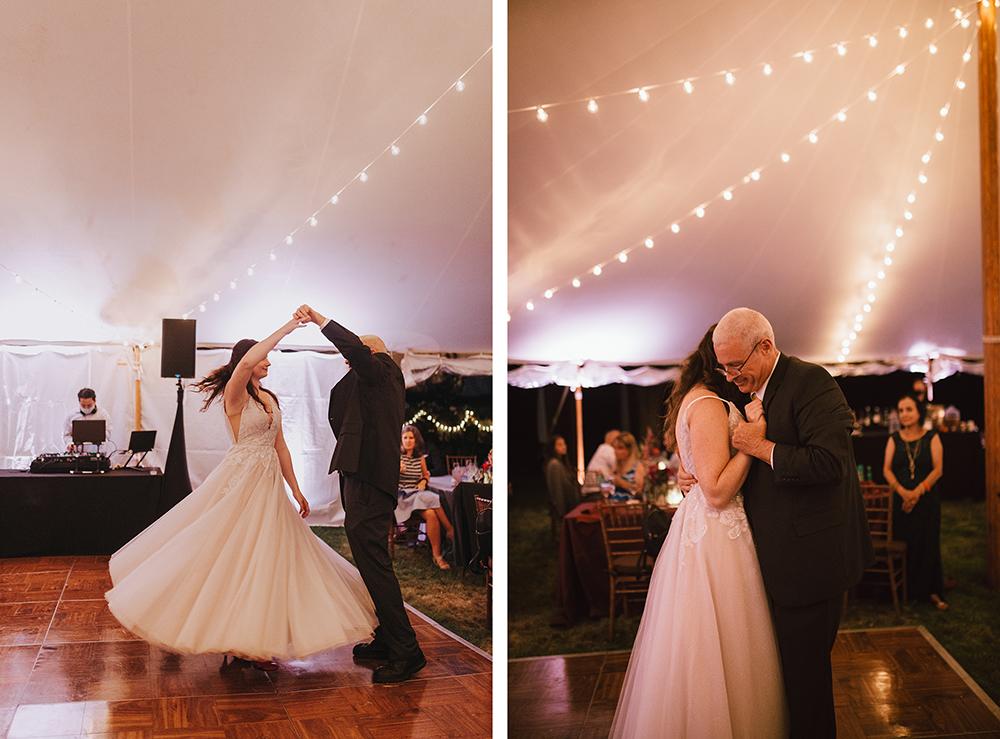 father-daughter dance | boston backyard wedding | massachusetts wedding photographer
