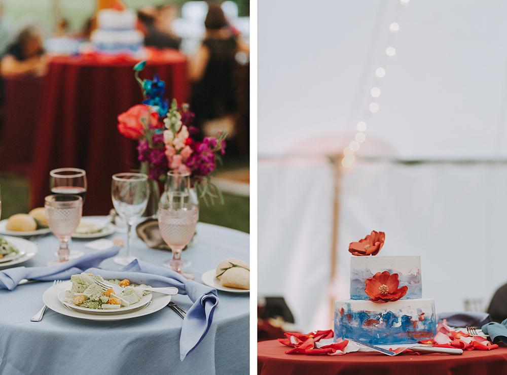 decors | boston backyard wedding | massachusetts wedding photographer