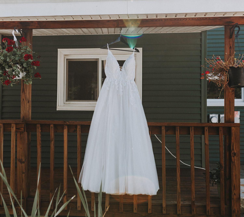 wedding dress | boston backyard wedding | massachusetts wedding photographer