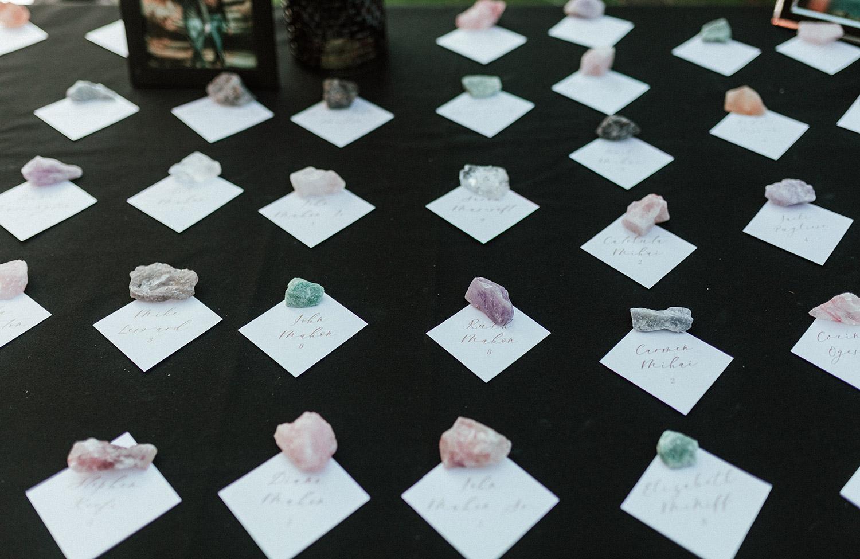 beautiful wedding name cards | boston backyard wedding | massachusetts wedding photographer