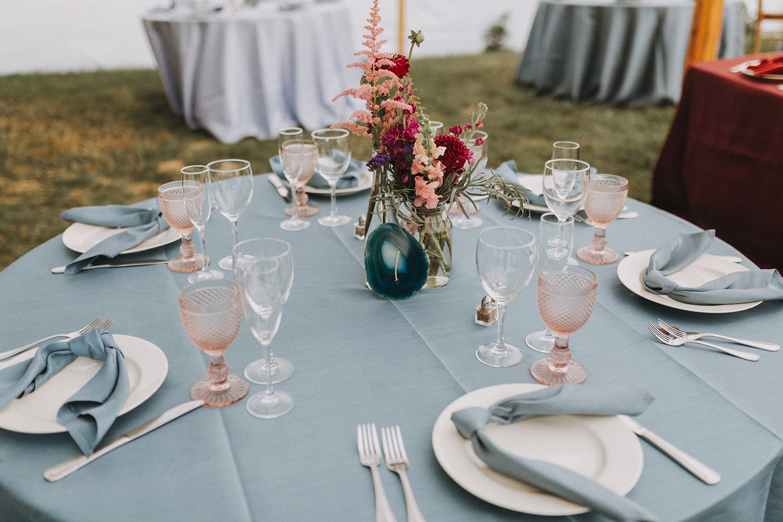 table setting | boston backyard wedding | massachusetts wedding photographer