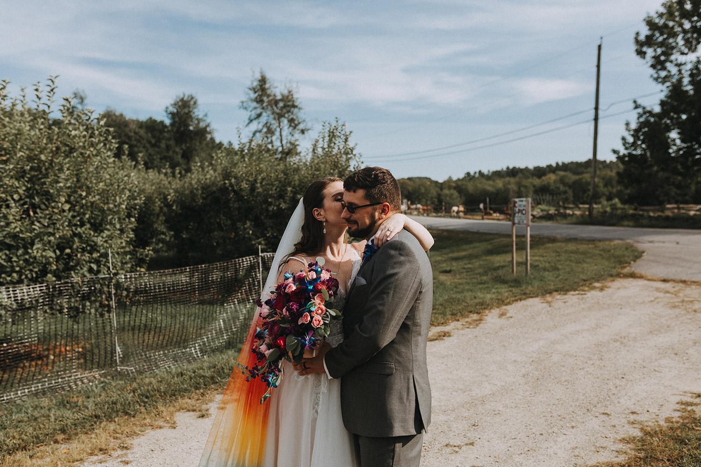 bride and groom boston backyard wedding | massachusetts wedding photographer