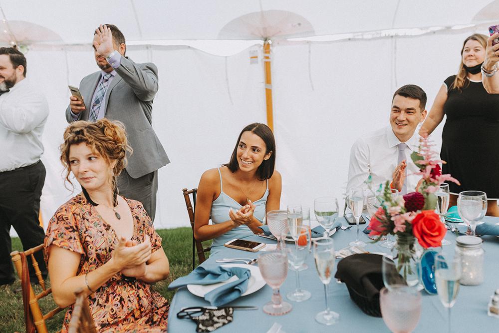 candid wedding photoboston backyard wedding | massachusetts wedding photographer